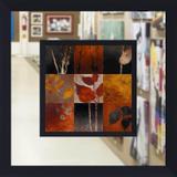 Quadro com Espelho Decorativo Folhas 60x60cm DP1562 - Decore pronto