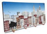 Quadro com Ganchos New York Retrô Porta Chaves Nova Iorque - Joy