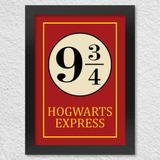 Quadro com Moldura - Hogwarts Express 42 X 30 CM - Yaay!