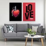 Quadro Coração Granada Grenade Heart The Love Power Moderno Para Quarto - Grande - Bimper