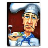 Quadro Cozinha Vintage Cozinheiro Canvas 40x30cm-COZ109 - Lubrano decor