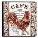 Quadro Cozinha Vintage Galo Café Canvas 30x30cm-COZ166 - Lubrano decor