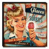 Quadro Cozinha Vintage Sorvete Canvas 30x30cm-COZ82 - Lubrano decor