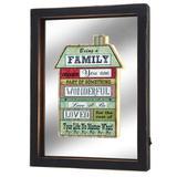 Quadro de Parede com Luz de Led Family 30cm Espressione