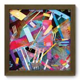 Quadro Decorativo - Abstrato - 22cm x 22cm - 193qdam - Allodi