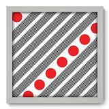 Quadro Decorativo - Abstrato - 33cm x 33cm - 115qnabb - Allodi