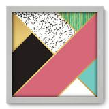 Quadro Decorativo - Abstrato - 33cm x 33cm - 188qnabb - Allodi