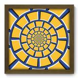 Quadro Decorativo - Abstrato - 33cm x 33cm - 213qdam - Allodi