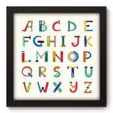 Quadro Decorativo - Alfabeto - 22cm x 22cm - 087qndap - Allodi