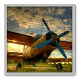 Quadro Decorativo - Avião - 70cm x 70cm - 004qnddb - Allodi