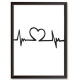 Quadro Decorativo - Batimento do amor - 25x19cm - Cool art