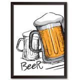 Quadro Decorativo - Beer - 25x19cm - Cool art