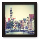 Quadro Decorativo - Bélgica - 22cm x 22cm - 095qnmap - Allodi