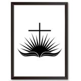 Quadro Decorativo - Biblia Sagrada - 34x24cm - Cool art