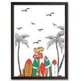 Quadro Decorativo - C.A Beach Whaves - 46x34cm - Cool art