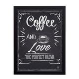 Quadro Decorativo Coffe and Love 33x45cm - Cantaki