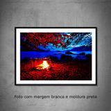 Quadro decorativo com fotografia  tamanho 40 x 60 cm  Fogueira em Ilhabela - Colours  creative photo decor