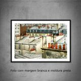 Quadro decorativo com fotografia  tamanho 40 x 60 cm  Telhados em Paris - Colours  creative photo decor