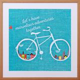Quadro Decorativo com Frase Lets Have Marvelous Adventures Together 60x60cm - Decore pronto