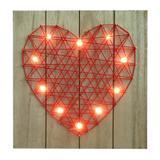 Quadro Decorativo com Led Heart Vermelho Urban