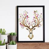 Quadro Decorativo com Moldura Cervo Boho - Love decor