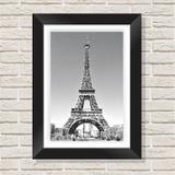 Quadro Decorativo com Moldura em Madeira Maciça e Vidro Torre Eiffel C001 - Brasil quadros