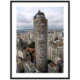 Quadro Decorativo com Moldura Preta Edifício Itália em São Paulo 60x80cm - Decore pronto