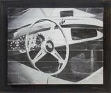 Quadro Decorativo com Strass Tela com Moldura Lamborghini Antigo 60x50cm - Decore pronto