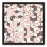 Quadro Decorativo - Cubos - 70cm x 70cm - 113qnadp - Allodi
