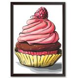 Quadro Decorativo - Cupcake - 46x34cm - Cool art