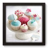 Quadro Decorativo - Cupcakes - 22cm x 22cm - 030qdcp - Allodi