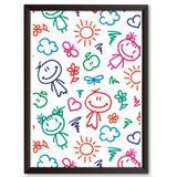 Quadro Decorativo - Desenho de Criança - 25x19cm - Cool art