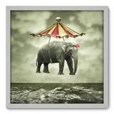 Quadro Decorativo - Elefante - 50cm x 50cm - 006qnscb - Allodi