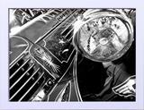 Quadro Decorativo em Preto e Branco Carro Dodge Antigo 40x30cm - Decore pronto