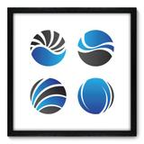 Quadro Decorativo - Esferas - 50cm x 50cm - 190qnacp - Allodi