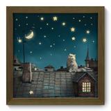 Quadro Decorativo - Estrelas - 22cm x 22cm - 006qdim - Allodi