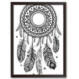Quadro Decorativo - Filtro dos Sonhos Maori - 34x24cm - Cool art
