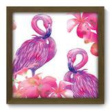 Quadro Decorativo - Flamingos - 33cm x 33cm - 198qdsm - Allodi