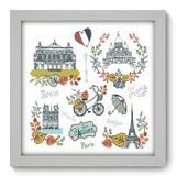 Quadro Decorativo - França - 22cm x 22cm - 256qdmb - Allodi