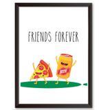 Quadro Decorativo - Friends Forever - 25x19cm - Cool art
