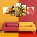 Quadro Decorativo Frutas Restaurantes Cozinha 5 Peças TT18 - Vital