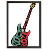 Quadro Decorativo - Guitarra Rock Roll Drugs - 46x34cm - Cool art