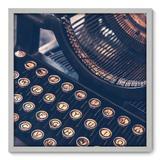 Quadro Decorativo - Máquina de Escrever - 70cm x 70cm - 001qnvdb - Allodi