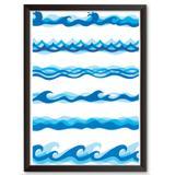Quadro Decorativo - Ondas, ondas e ondas - 25x19cm - Cool art