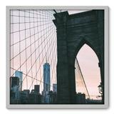 Quadro Decorativo - Ponte do Brooklyn - 70cm x 70cm - 099qnmdb - Allodi