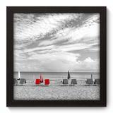 Quadro Decorativo - Praia - 22cm x 22cm - 113qnpap - Allodi