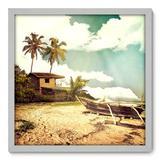 Quadro Decorativo - Praia - 50cm x 50cm - 075qnpcb - Allodi