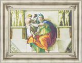 Quadro Decorativo Religioso Obra de Arte Sibila Delfica de Michelangelo 90x70cm - Decore pronto