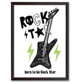 Quadro Decorativo - Rock Star - 34x24cm - Cool art