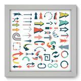 Quadro Decorativo - Setas - 22cm x 22cm - 088qndab - Allodi